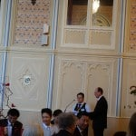 Mandarin Interpreter John Zhou MC-ing in Mandarin in Government House