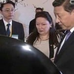 Mrs Honey Bacon with President Xi, assisted by Mandarin Interpreter Marcus Liu