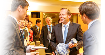 #Australia's Governor-General needs the suport of our Chinese interpreter to talk to Chinese delegates